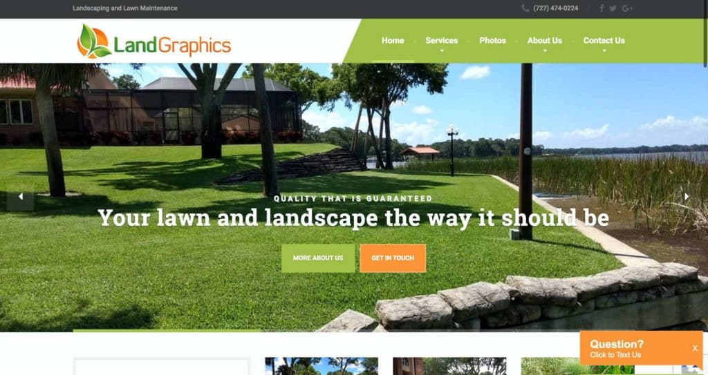 Landscaping and Lawn Care Website