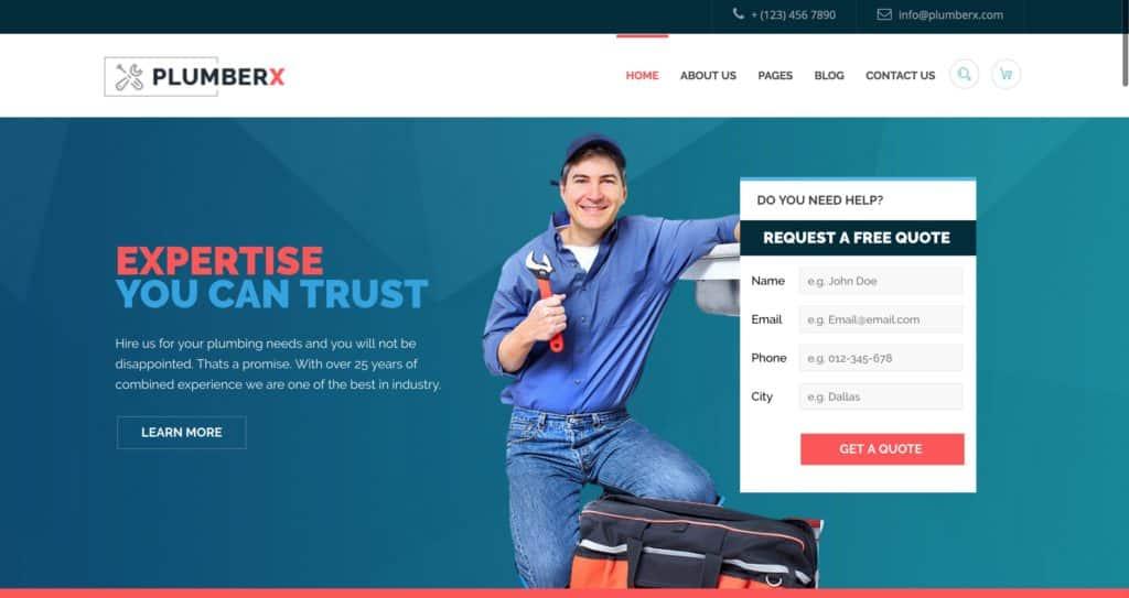 Services Pro Plumbing Company Website