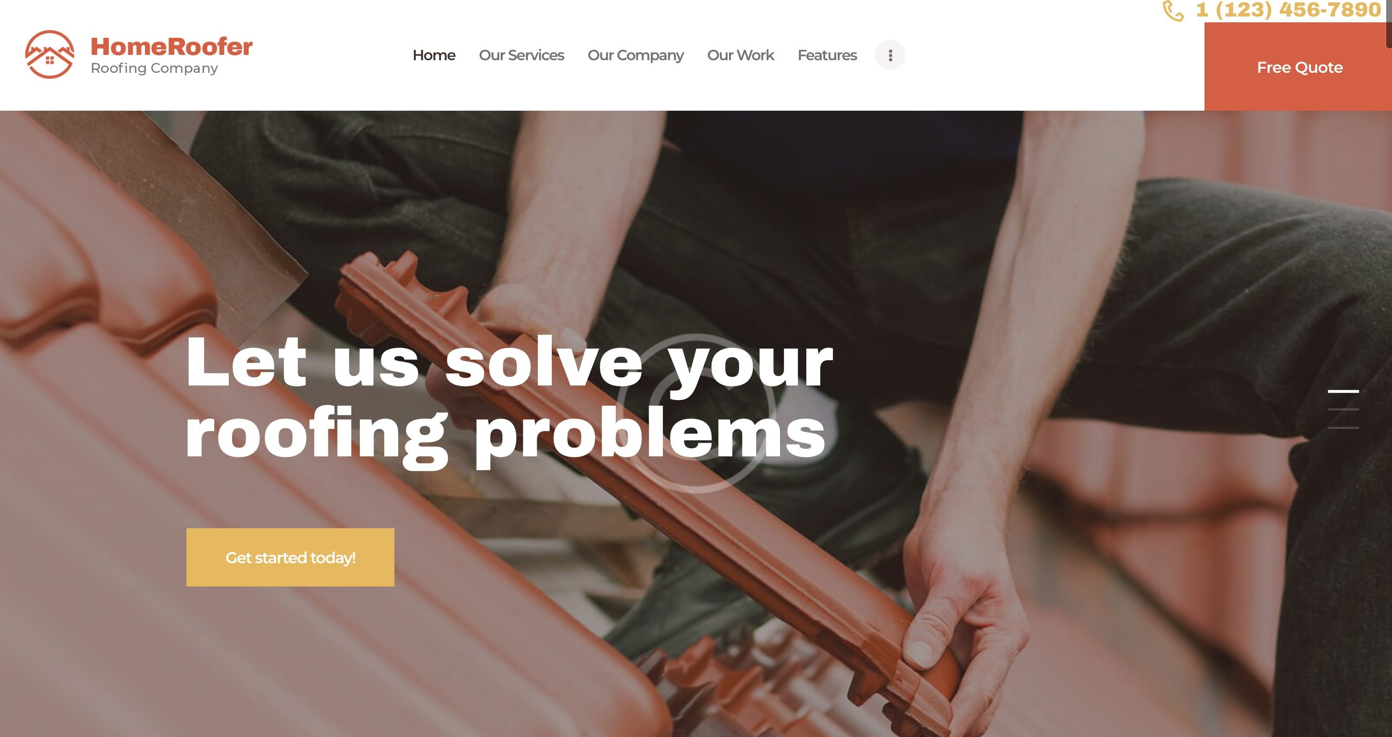 Services Pro Roofing Company Website