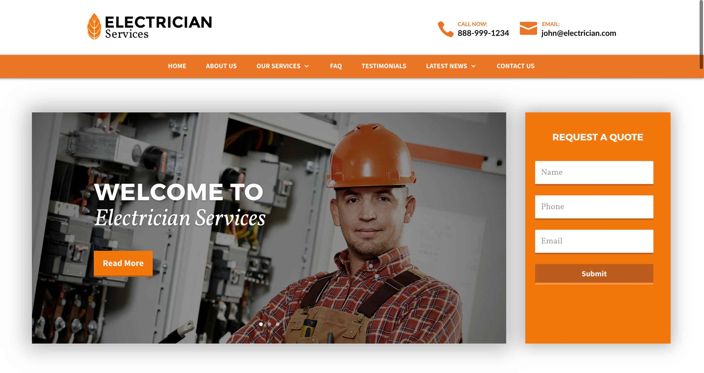 Services Pro Electrician Website