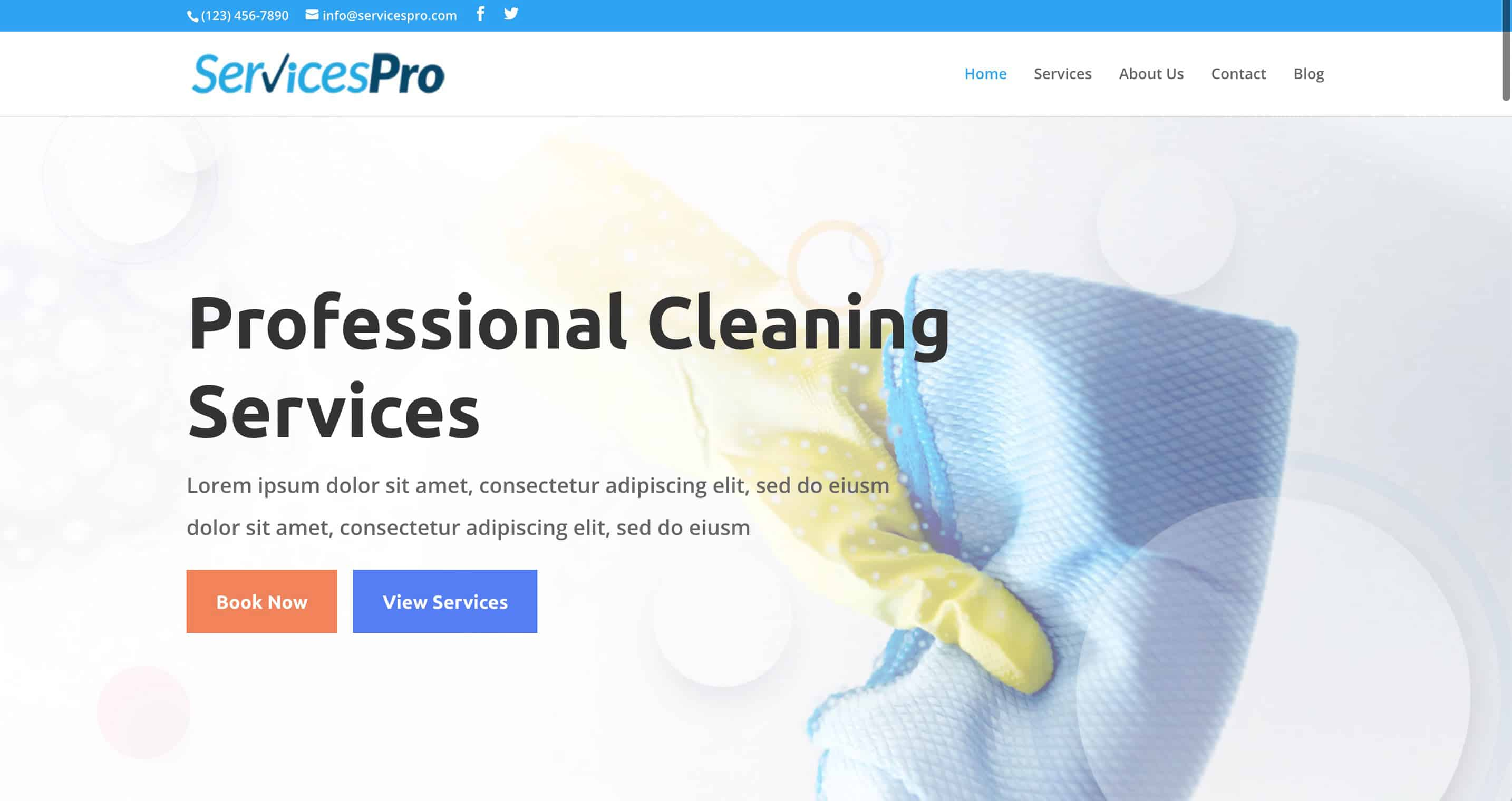 Services Pro Landscaping and Lawn Care Website